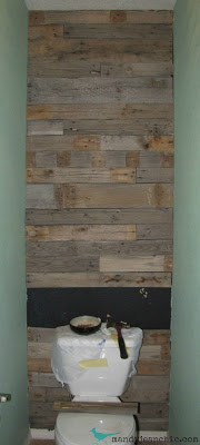 Pallet Bathroom Wall Rustic Wood 2