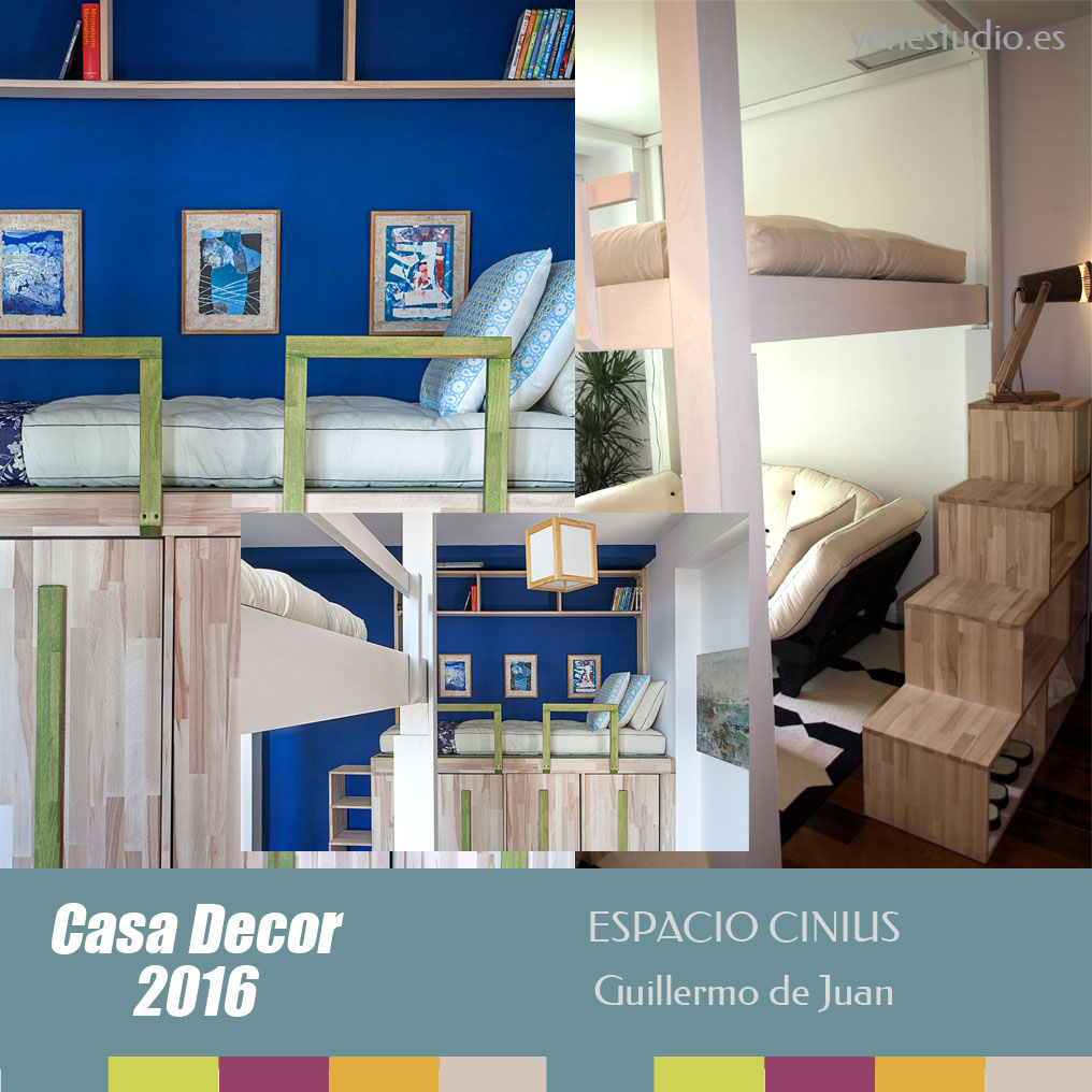 Dormitorio Casa Decor 2016 espacio Cinius Guillermo de Juan