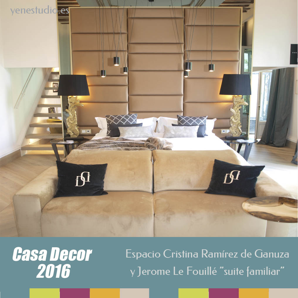 Suite Familiar Casa Decor 2016 Cristina Remirez y Jerome Le Fouillé dormitorio principal