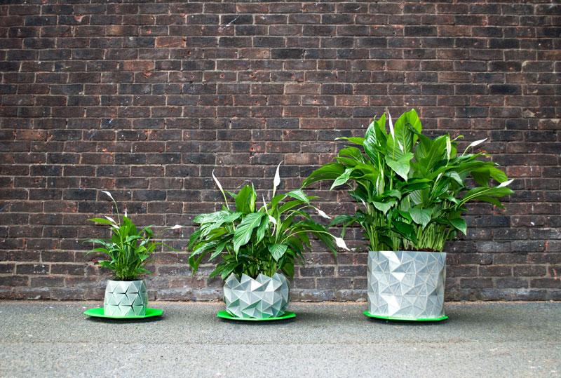 La maceta origami que crece a la vez que tus plantas