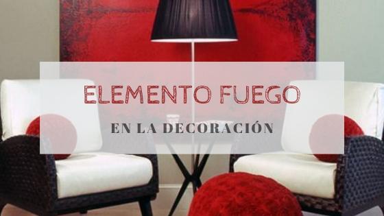 Elemento fuego en la decoración